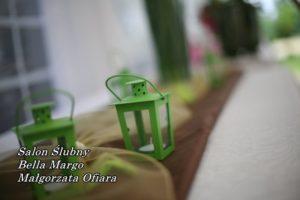 Latarenka zielona metalowa