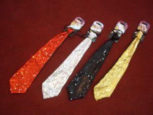 Krawat z cekinami