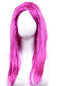 Peruka długie włosy różowa