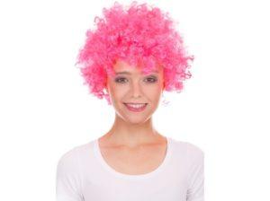 Peruka klaun różowa