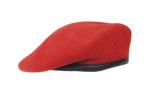 Beret wojskowy czerwony