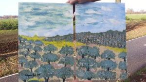 Obraz ,, Gaje oliwne ,, Małgorzata Ofiara